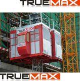 Truemax Ce a approuvé la section de mât de peinture de la cage unique passager d'un palan