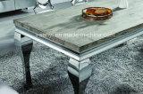 Geïmiteerdl Houten Bovenkant of Marmer of Eettafel van het Roestvrij staal van het Glas de Hoogste