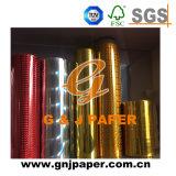 La transferencia de lámina de aluminio con acabado de color del papel de embalaje
