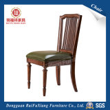 Chaise de salle à manger en cuir (AB338)