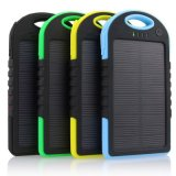 Im Freien bewegliches Sonnenenergie-Bank 5000mAh 2 USB-Kanal-Stromversorgungen-Telefon fasten Aufladeeinheit