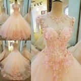 Оптовое дешевое отбортовывая розовое платье венчания вечера партии мантии шарика