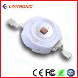 diodo rojo del poder más elevado LED de 1W 350mA 615-630nm 55-65lm