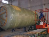 Máquina de bobinado depósito de presión del depósito de plástico reforzado con fibra de la máquina de bobinado de la línea de producción buque GRP