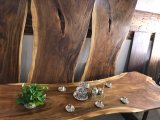 호두 단단한 나무 커피용 탁자, 의자 식탁 상단, 일 최고 대중음식점 테이블