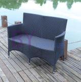 Sofa extérieur de rotin de PE de loisirs d'hôtel de jardin de mode moderne (696)