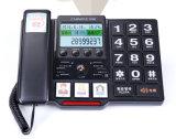大きいボタンの電話、高齢者達の電話、大きいキーパッドの電話、電話、発信者識別情報のチノE