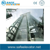 Tipo elevador panorâmico Gearless do passageiro