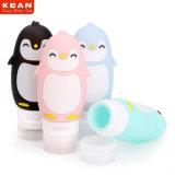 De Vrije Lekvrije Opnieuw te gebruiken Veelkleurige Uitrustingen van Shamppo van de Reis van het Silicone van de Pinguïn BPA