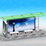 Estación personalizado Diseño Pública Muebles parada de autobús con Caja de Luz