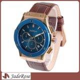 Relógio de pulso clássico do aço inoxidável, relógio elevado de Quanlity para o homem