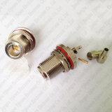 Soldadura femenina del tabique hermético del conector del prensado de N Gato para el adaptador del RF del cable de Rg174 Rg316 LMR100