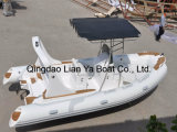 barca gonfiabile rigida della nervatura del crogiolo di peschereccio della vetroresina di 5.8m