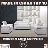 Sofa réglable de cuir d'appui-tête de modèle moderne
