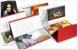 Impressão do calendário de mesa da fonte de escritório do papel revestido da alta qualidade