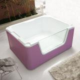 El aislamiento de acrílico bañera para bebé piscina con diseño en vidrio