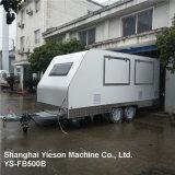 Ys-Fb500b Winkel van het Roomijs van het Roestvrij staal de Mobile Food Van