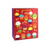 Ropa de cumpleaños Cake Shop bolsa de papel de regalo de recuerdo de supermercados