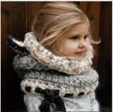 Теплое связанное вязание крючком малышей зимы покрывает шлем Beanies Earflap шарфа Fox клобука Coif (HW602)