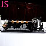 Bandeja de chá de artefatos de pedra de granito com a cultura tradicional chinesa