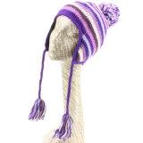 女性の冬の厚い帽子の帽子のスキー耳は帽子をはためかす