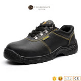人のためのPUによって注入される革鋼鉄つま先の靴の中敷の安全靴