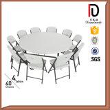 Plastica bianca che piega intorno alla tavola di approvvigionamento per 10 sedi
