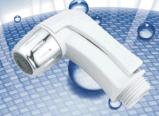 Couleur blanche/Chrome ordinateur de poche en plastique de toilette bidet Accessoires Shattaf court du pulvérisateur