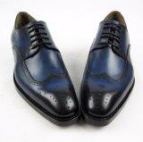 Ботинки ранта Goodyear конструкции Brogue Burnish кожаный