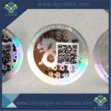 Het Etiket van het Hologram van de Veiligheid van het Embleem van de Douane van de Code van Qr