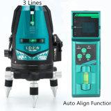 as linhas 520nm 3 esverdeiam o nível do laser de feixe com receptor do laser