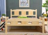 固体木のベッドの現代ダブル・ベッド(M-X2317)