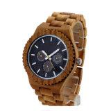OEM de madera por encargo del reloj del asunto de manera de los hombres con la escritura de la etiqueta privada