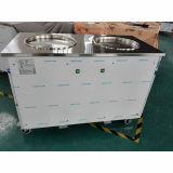 Las cacerolas dobles controlan por separado la máquina del helado del rodillo de Tailandia
