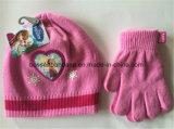 Малыши связанные зимой установленные перчатки Beanie шаржа продукции фабрики и шарфа