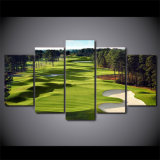 Картины холстины напечатали изображения холстины искусствоа стены поля для гольфа 5 частей для живущий плакатов печати PCS комнаты 5