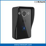防水カバーとのスマートな戸口の呼び鈴無線WiFiのドアベルのカメラの電話制御