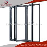 Porte en verre en aluminium en aluminium de porte de pliage de bâti double