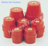 Sm-45 de la résine de polyester à 45 mm de haut 14kv isolant de support de barre omnibus Standardoff rouge