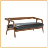 Il sofà di legno del rifornimento di successo della fabbrica ha impostato con il cuoio cereo del Faux