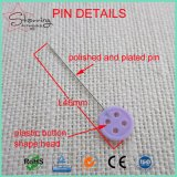 Os doces plásticos bonitos colorem o Pin reto Sewing principal da tecla de 46mm