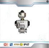 Шаровой клапан двухстворчатый клапан двойного действия пневматический привод