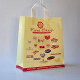 Poの柔らかいハンドル袋、PEのショッピングPolybags、Advitisingのポリ袋(HF-17102501)