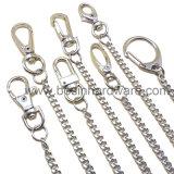 anello chiave del metallo di 20mm con la catena lunga del bordo
