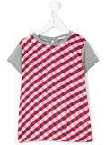 공장 소녀의 섞인 색깔은 t-셔츠를 네모로 한다