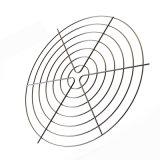 Revêtement en chrome galvanisé Fil soudé du couvercle du ventilateur axial