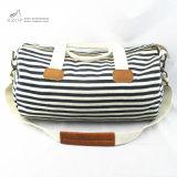 Frauen-Streifen-Duffle Bag