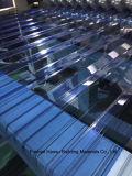 Le polycarbonate a ridé la feuille en plastique de Sun de PC vert de feuille pour la cloche de toiture