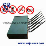 Haute puissance réglable de 6 antenne WiFi & GPS & Brouilleur de téléphone cellulaire