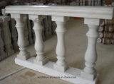 Balustre et balustrade solides de granit de fléau de marbre de pilier de marbre en pierre creux